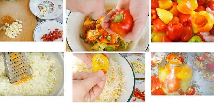 фаршировка перца капустой и морковью