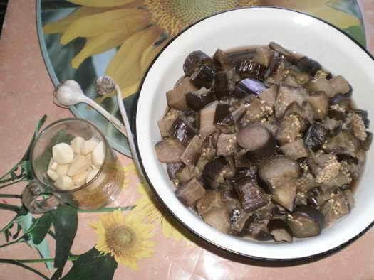 заготовка баклажан для зимнего салата