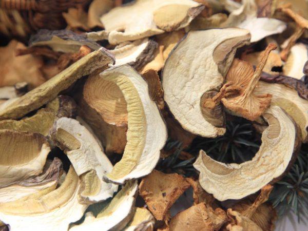 Сушеные грибы боятся влаги